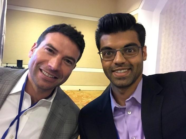 Sid Radhakrishna (WG'20) with Abe Yokell (C'03), Managing Director of Congruent Ventures