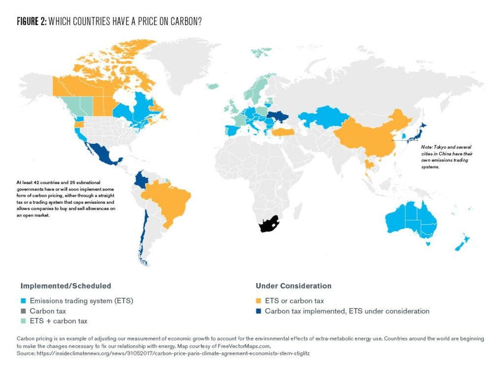 Figure 2: Which countries have a price on carbon