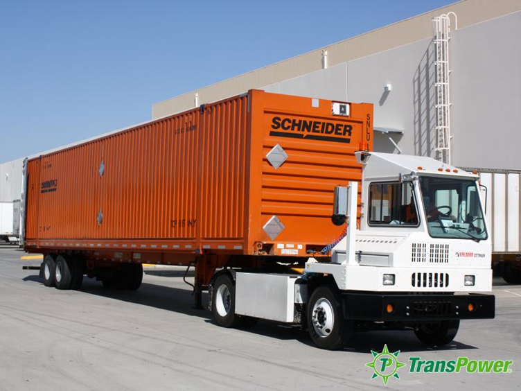Figure 6: What a Super Efficient Urban Truck Might Look Like. This all-electric demonstration tractor has been operating at an IKEA Facility in California since 2014 (TransPower).