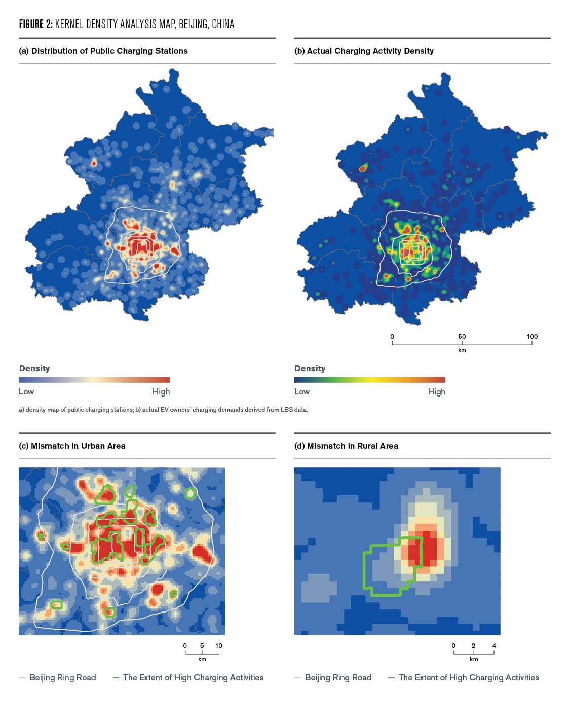 Figure 2: Kernel Density Analysis Map for Beijing China