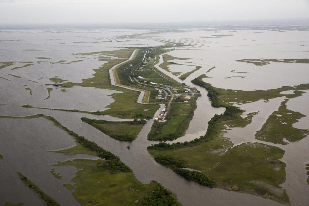 A flooded plain
