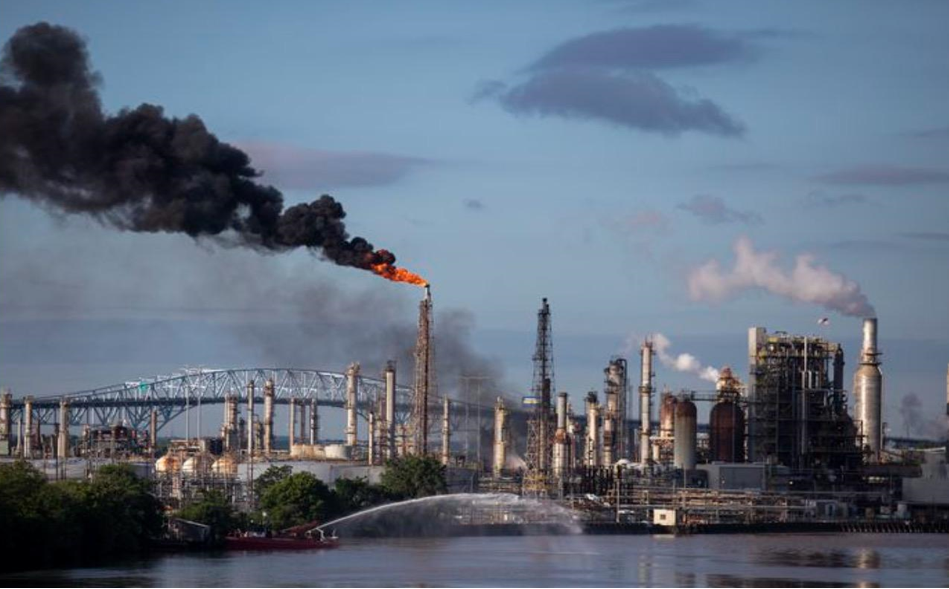The Philadelphia Energy Solutions refinery on June 21, 2019 after a massive fire and explosion shut it down. Source: The New York Times.